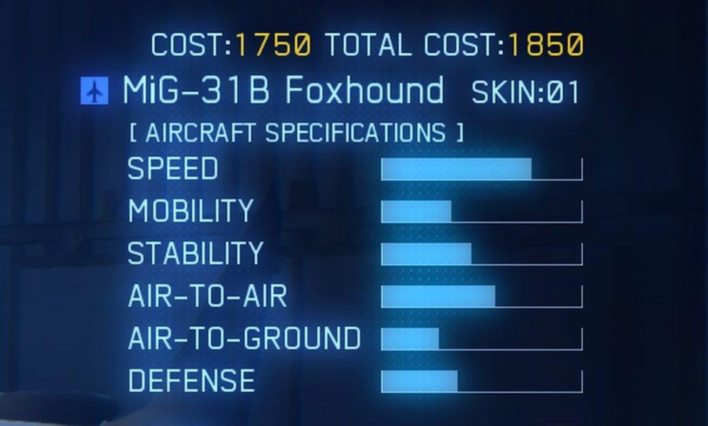 ACE COMBAT™ 7: SKIES UNKNOWN_MiG-31B Foxhound