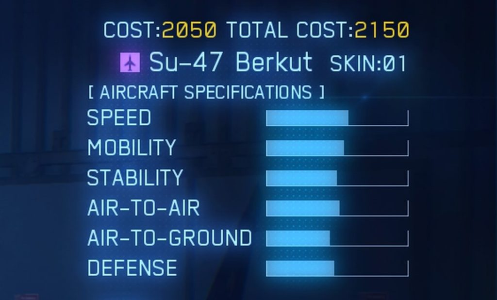 ACE COMBAT™ 7: SKIES UNKNOWN_Su-47 Berkut SPEC