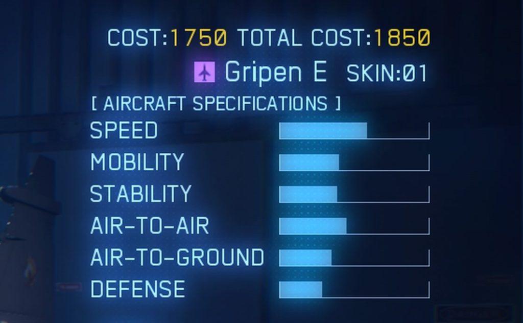 ACE COMBAT™ 7: SKIES UNKNOWN_Gripen E SPEC