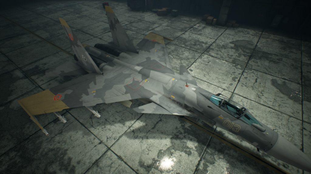 ACE COMBAT™ 7: SKIES UNKNOWN_Su-37 Terminator07 Yellow 13 Skin