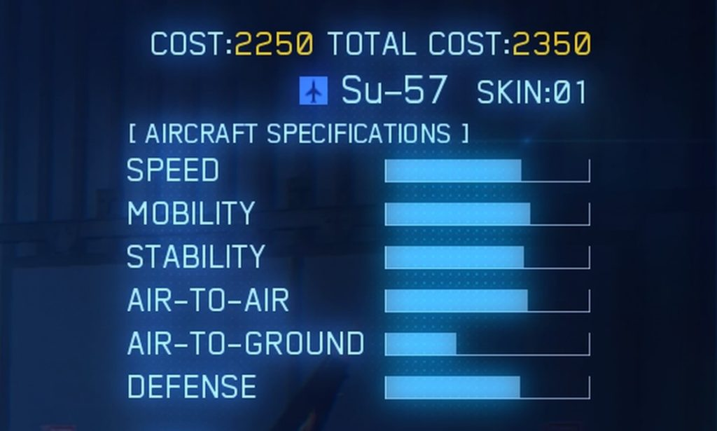 ACE COMBAT™ 7: SKIES UNKNOWN_Su-57 SPEC