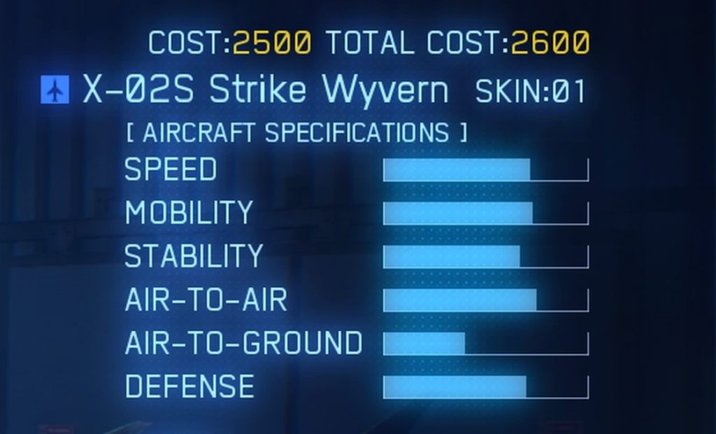 ACE COMBAT™ 7: SKIES UNKNOWN_X-02S Strike Wyvern SPEC