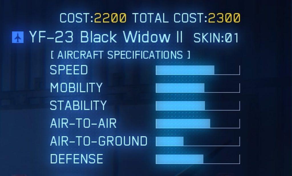 ACE COMBAT™ 7: SKIES UNKNOWN_YF-23 Black Widow II SPEC