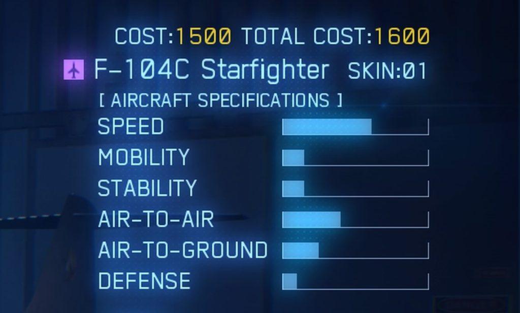 ACE COMBAT™ 7: SKIES UNKNOWN_F-104C Starfighter