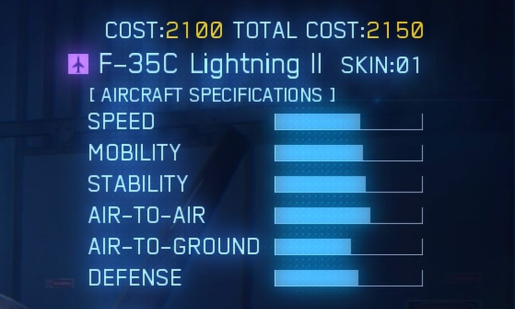 ACE COMBAT™ 7: SKIES UNKNOWN_F-35C Lightning II