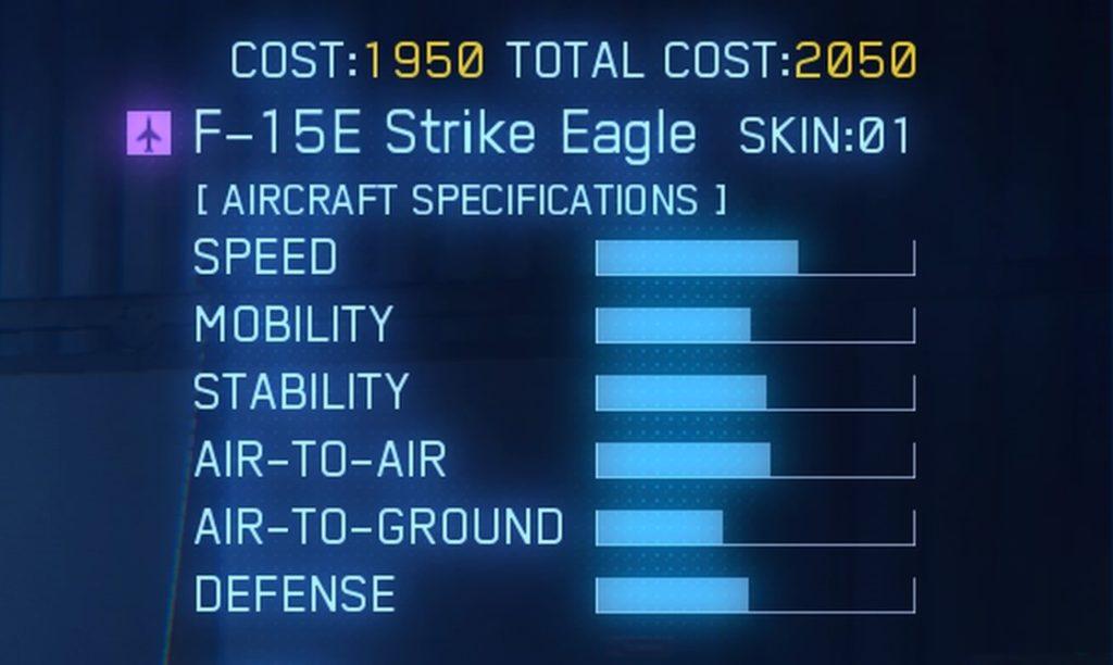 ACE COMBAT™ 7: SKIES UNKNOWN_F-15E Strike Eagle SPEC