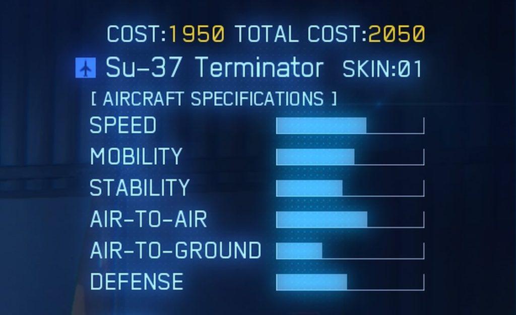 ACE COMBAT™ 7: SKIES UNKNOWN_Su-37 Terminator SPEC