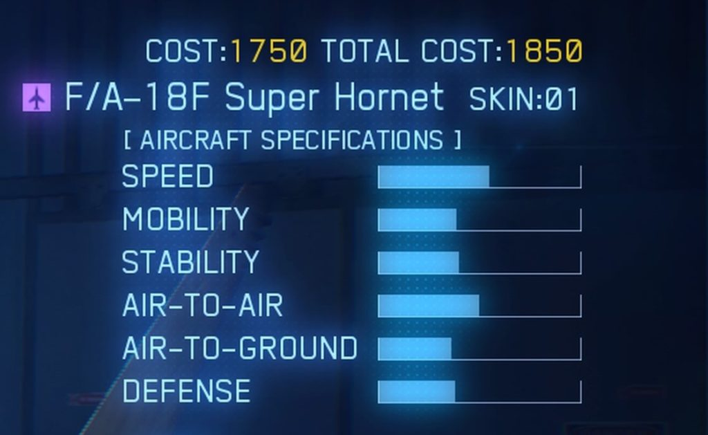 ACE COMBAT™ 7: SKIES UNKNOWN_F/A-18F Super Hornet SPEC