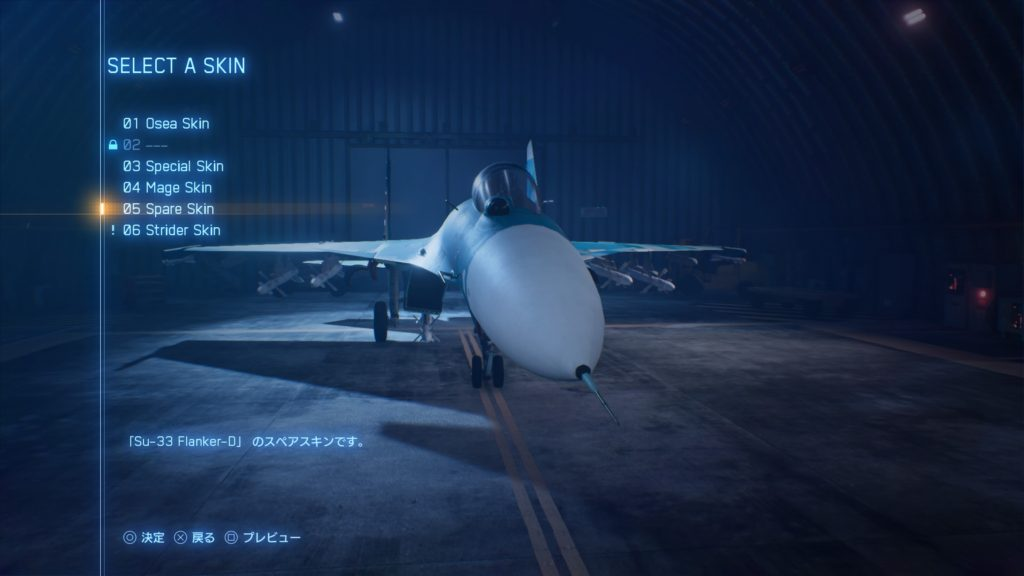ACE COMBAT™ 7: SKIES UNKNOWN_Su-33 Flanker-D05 Spare Skin