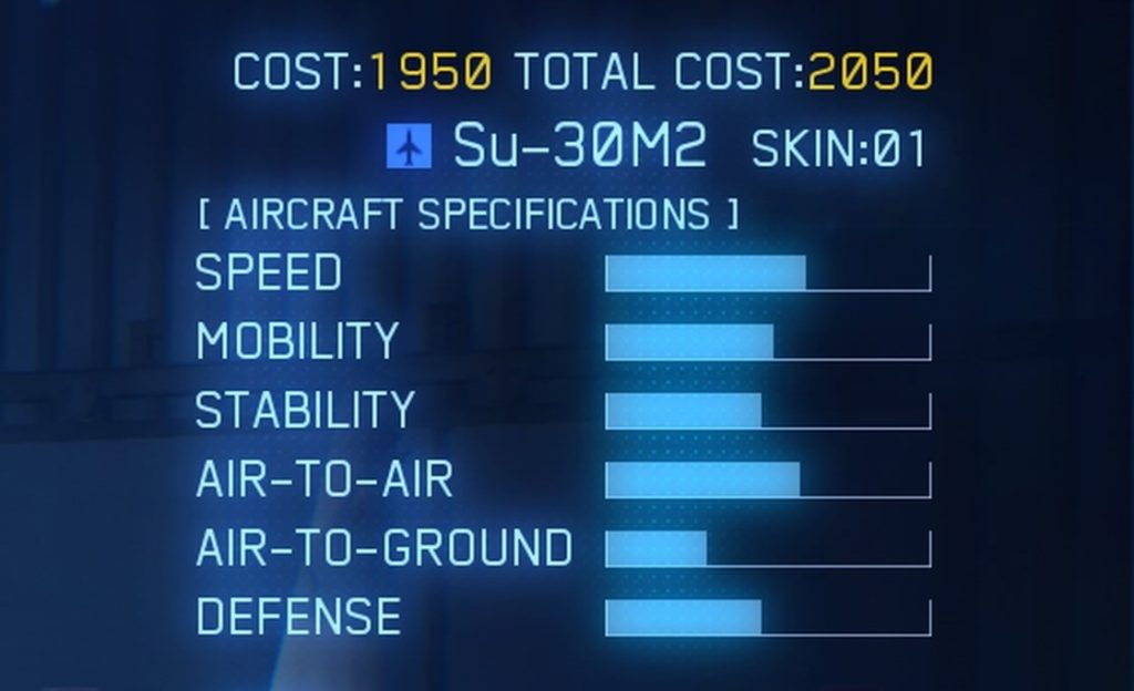 ACE COMBAT™ 7: SKIES UNKNOWN_Su-30M2 SPEC