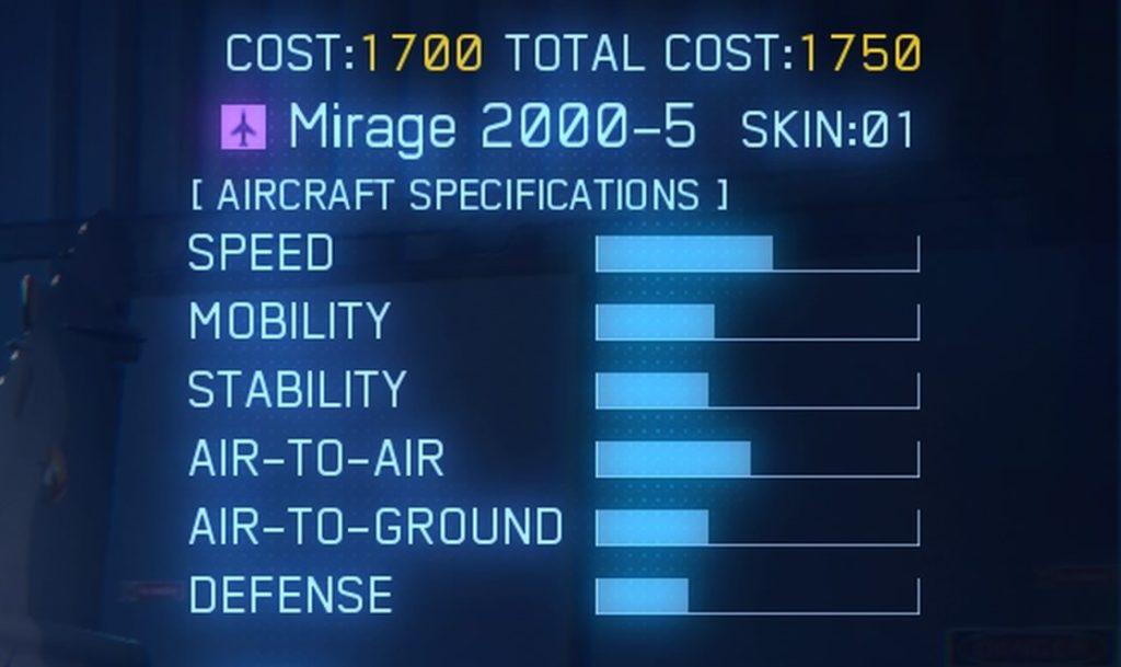 ACE COMBAT™ 7: SKIES UNKNOWN_Mirage 2000-5 SPEC