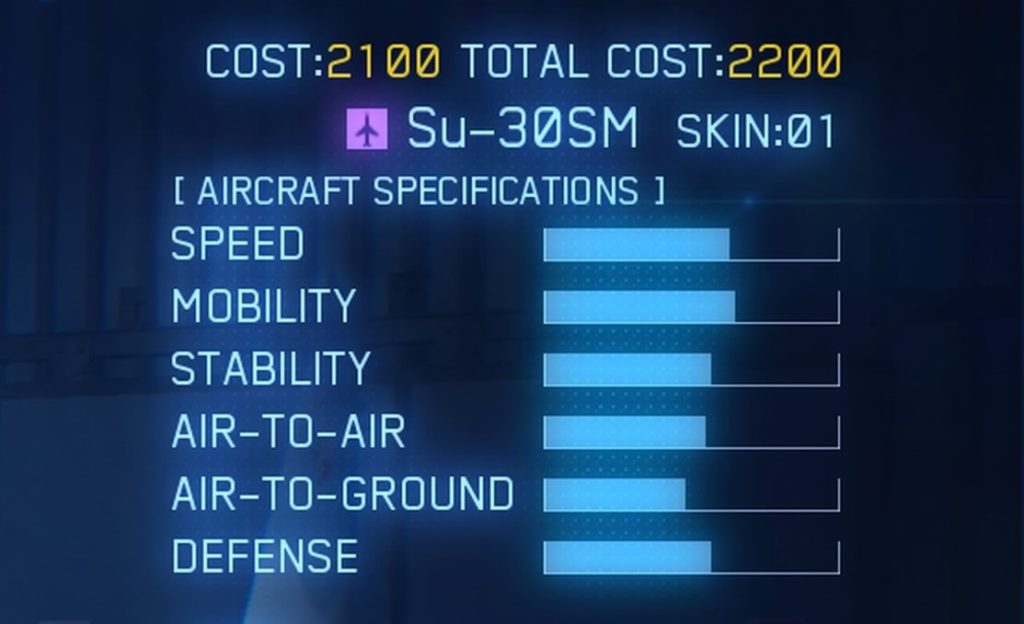 ACE COMBAT™ 7: SKIES UNKNOWN_Su-30SM SPEC
